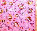 <キャラクター生地・布>ちいさなプリンセス・ソフィア(ピンク)#8【キャラクター】【生地】【布】【キャラクター生地】【入園 入学】