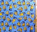 <キャラクター生地・布>怪盗グルー(ミニオンズ)(ブルー)#3【キャラクター】【生地】【布】【キャラクター生地】【入園】【入学】