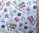 <キャラクター生地・布>すみっコぐらし(ブルー)#3【キャラクター】【生地】【布】【キャラクター生地】【入園 入学】