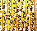 <Qキャラクター・キルティング生地>ひつじのショーン(イエロー)#5【キルティング】【キルト】【キャラクター】【キルティング生地】【布】【入園】【入学】