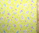 生地 ダブルガーゼ キャラクター ドラえもん(イエロー)#28(商品の特性上 柄が多少歪んでいる場合がありますのでご了承ください。)( ダブルガーゼ生地 Wガーゼ マスク ハンカチ スタイ 赤ちゃん ベビー キッズ )
