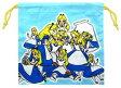 キャラクター巾着袋(きんちゃく袋)・アリス(中サイズ)(アリスいっぱい・ブルー)【巾着袋】【巾着袋 アリス】【巾着袋 入学】【巾着袋 中】【巾着袋 入園】【巾着】【キャラクター 巾着袋】【クロネコDM便OK】