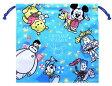 キャラクター巾着袋(きんちゃく袋)・ディズニー(中サイズ)(CS・ブルー)【入園入学・子供用品】