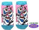 キャラクター・ソックス(靴下)・アナと雪の女王(レディス22〜24cm)(オラフいっぱい・ピンク)