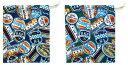 コップ袋 ( 手作り ) アメリカンパッチ 柄番号2 ( コップ入れ 給食袋 巾着袋 きんちゃく袋 小 ミニサイズ 巾着バッグ キッズ 雑貨 ポ..