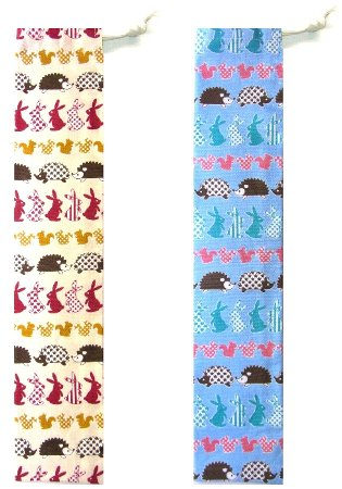 たて笛入れ<手作り>・ウサギとリスとハリねずみ(...の商品画像