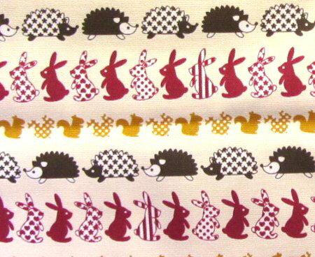 たて笛入れ<手作り>・ウサギとリスとハリねずみ...の紹介画像2
