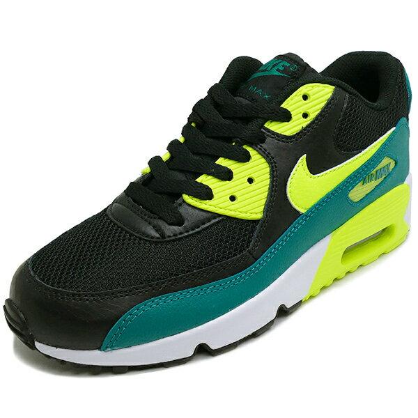 NIKE Nike AIR MAX 90 MESH GS Air Max 90 mesh GS black/volt/rio teal black / Volt / rioter 833418 004 16FA