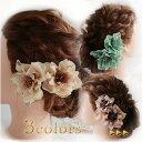 ショッピングクリスマスローズ 結婚式 卒業式 入学式 髪飾り ベロア ラメ入り クリスマスローズ(3色)