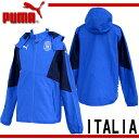 イタリア代表 FIGCイタリア スタジアムジップスルーフーディー【PUMA】プーマ ●レプリカウェア 15SS(746997-01)*61