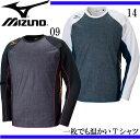 プラクティスシャツ【MIZUNO】ミズノ 陸上 シャツ 長袖 16AW(U2MA6501)*20