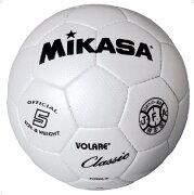 サッカー5号 縫い ホワイト【MIKASA】ミカササッカーmikasa(SVC500W)*21