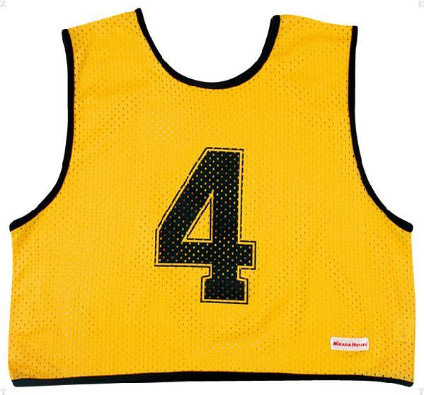 ゲームジャケット ハーフ10枚 イエロー【MIKASA】ミカサマルチSP11FW mikasa(GJH10Y)<発送に2〜5日掛かります。>*20