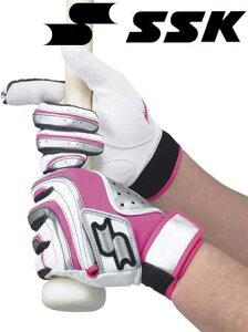 一般用ダブルバンドエンボス手袋(両手用)【SSK】エスエスケイバッティングテブクロ13SS(BG82EW)