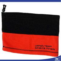 14年ソフトテニス日本代表応援ネックウォーマー(96ブラック×レッド)【MIZUNO】ミズノソフトテニス アクセサリー その他(62jy460596)*25の画像