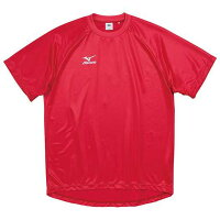 ゲームシャツ(ジュニア/サッカー)(62レッド)【MIZUNO】ミズノフットボール/サッカー ウエア ゲームウエア(p2ja410262)*40の画像