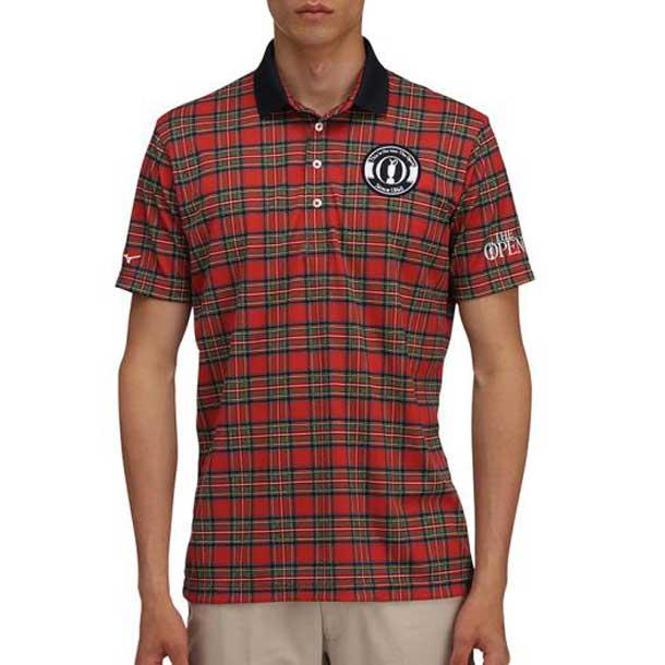 【THE OPEN】半袖ポロシャツ【MIZUNO】ミズノゴルフ ウエア トップス(52MA7102)*50