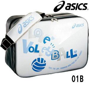 エナメルバッグバレーボールグラフィックプリントシリーズ【asics】アシックス●バレーバッグ(EBV111)<※60>