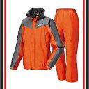 透湿レインスーツ・スロエ オレンジ XL【LOGOS】ロゴスアウトドアレインウェア(28056561)*0