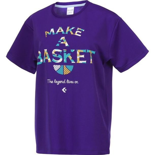 7S ウィメンズプリントTシャツ【CONVERSE】コンバースバスケットTシャツ W(cb371301-7500)*19