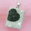 It is fs2gm Black パヴェオニキスハート CZ diamond silver necklace [free shipping, collect on delivery fee free of charge] [smtb-kd] [RCP] [easy ギフ _ Messe input] [YDKG] [easy ギフ _ packing] [comfortable ギフ _ Messe]