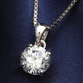 1.25 Carat sparkle round CZ diamond silver necklace fs3gm.