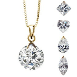 "★ SALE ★ * chain is another purchase * ""80% off"" 170 books sold out performance! All 10 types! Rock CZ diamond K14 yellow gold pendant fs3gm"