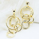 It is fs2gm Circle Of Life CZ diamond gold pierced earrings (two pair sets) [RCP] [YDKG] [smtb-kd] [comfortable ギフ _ Messe] [easy ギフ _ Messe input] [free shipping, collect on delivery fee free of charge] [easy ギフ _ packing]