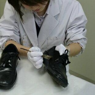 靴クリーニング部分補色