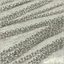 小豆チェーン2mm×約50cm「ロジウム(シルバー)」(あずきチェーン,アズキチェーン,ハンドメイドチェーン,細いチェーン,ネックレスチェーン)