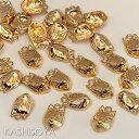 チャーム/キツネのお面10mm×16mm「ライトゴールド」10個入り(和風チャーム,きつね,お面,ペンダントトップ,手芸,ハンドメイド)
