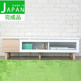電視架寬度 120 釐米小吃電視板使電視機架電視單位 lowboard AV 機架電視櫃 AV 板生活委員會完成了在日本國內時尚現代北歐、 簡單、 自然、 木材、 天然、 草木灰木材 120 釐米寬電視站