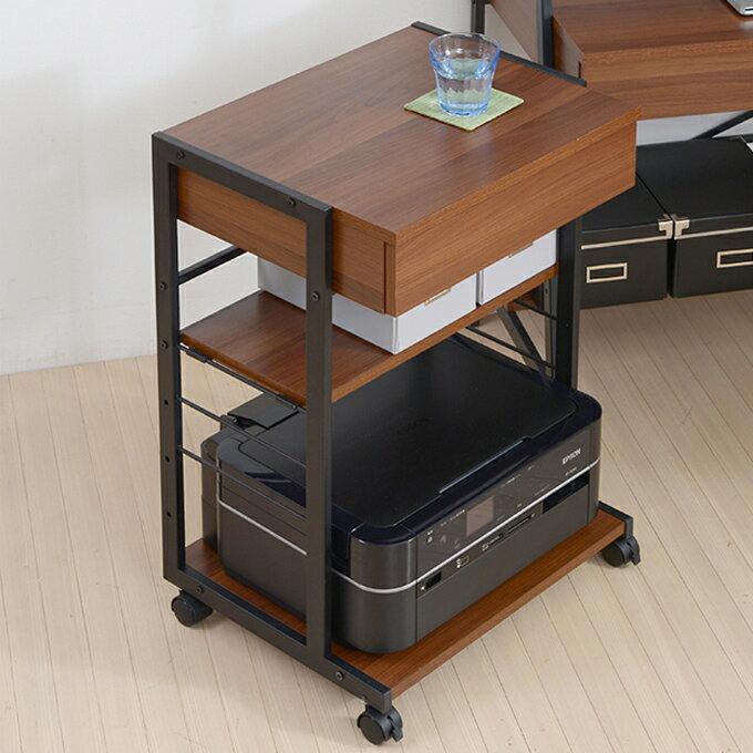 『2wayパソコンデスク 複合機ラック』 サイドワゴン 複合器ラック プリンター台 プリンターラック サイドテーブル