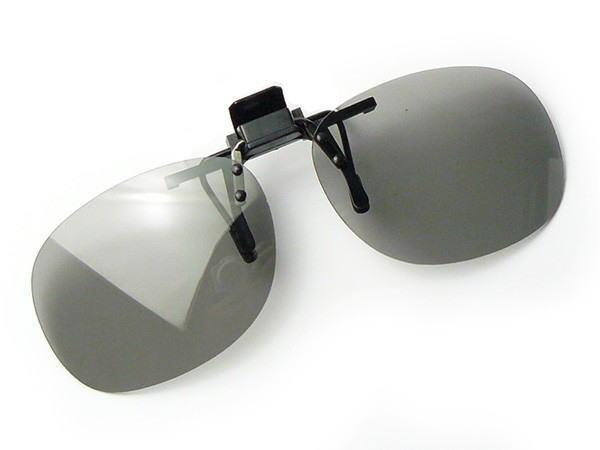 サングラス 偏光 調光 クリップ 跳ね上げ 高性能 偏光度 99%以上 UVカット Mサイズ ST-15S