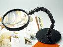 【スタンド台】[2倍100mm小玉4倍]読書用ルーペ・拡大鏡・虫眼鏡(CF-501)日本製クリアー光学