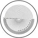 【角度測定1°】φ26mmガラススケール(P-109N)日本製クリアー光学