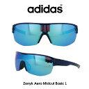 ショッピング自転車 Adidas (アディダス) サングラス Zonyk Aero Midcut Basic L ゾニック エアロ ミッドカット ベーシック AD12-75-4500-L グレー/ブルーミラー レンズ 人気モデル UVカット アウトドア ドライブ スポーツ