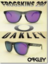 US 並行輸入 OAKLEY サングラス オークリー 野球 Sunglass FROGSKINS 290 Crystal Black/Violet Iridium (オークリー サングラス フロッグスキン クリスタルブラック)