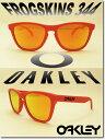 US 並行輸入 OAKLEY サングラス オークリー 野球 Sunglass FROGSKINS 344【Summit Collection】 Mesa Orange/Fire Iridium (オークリー サングラス フロッグスキン オレンジ)