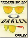 US 並行輸入 OAKLEY サングラス オークリー 野球 Sunglass FROGSKINS 361【Aquatique Collection】 Lagoon/Fire Iridium (オークリー サングラス フロッグスキン ライトグリーン/レッド)