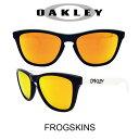 US 並行輸入 OAKLEY サングラス オークリー 野球 Sunglasses FROGSKINS 418 Black/Fire Iridium(オークリー サングラス フロッグスキン ブラック・ホワイト/ゴールドミラー