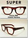 US並行輸入 SUPER Sunglass Ciccio 968 Classic Havana/Clear Lens (スーパーサングラス チッチオ クラッシックハバナ クリアレンズ) 【レビュー書込み特別価格商品】