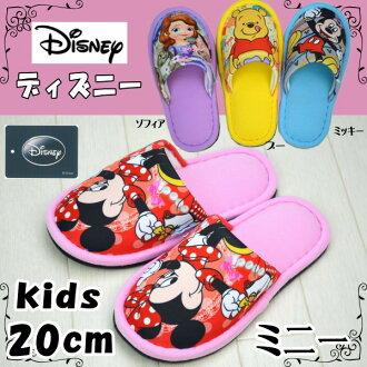 孩子們拖鞋迪士尼米奇和微型 / 小熊維尼 / 索菲亞 20 釐米 (可愛兒童拖鞋室內鞋拖鞋孩子外面繡字元)