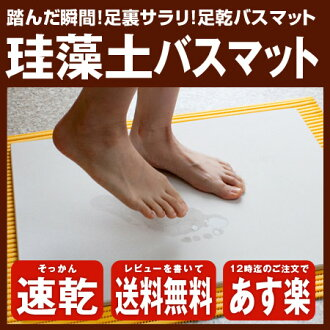 Additional shipping required * wrapping non's feet dry mat drying diatomaceous earth mat diatomaceous earth mat washing unnecessary absorbent outstanding * Hokkaido, Okinawa and remote islands