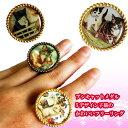 指輪 ねこ ネコ ゆめかわいい プシキャット メダル 子猫 フェアリー かわいい フリーリング 童話風 アンティーク 森ガール