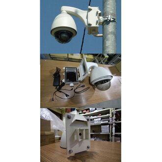Arm type [Paul pillar metal gear set, Panasonic network camera-friendly outdoor for box with Dome Housing BB-HCM580, BB-HCM581, etc!
