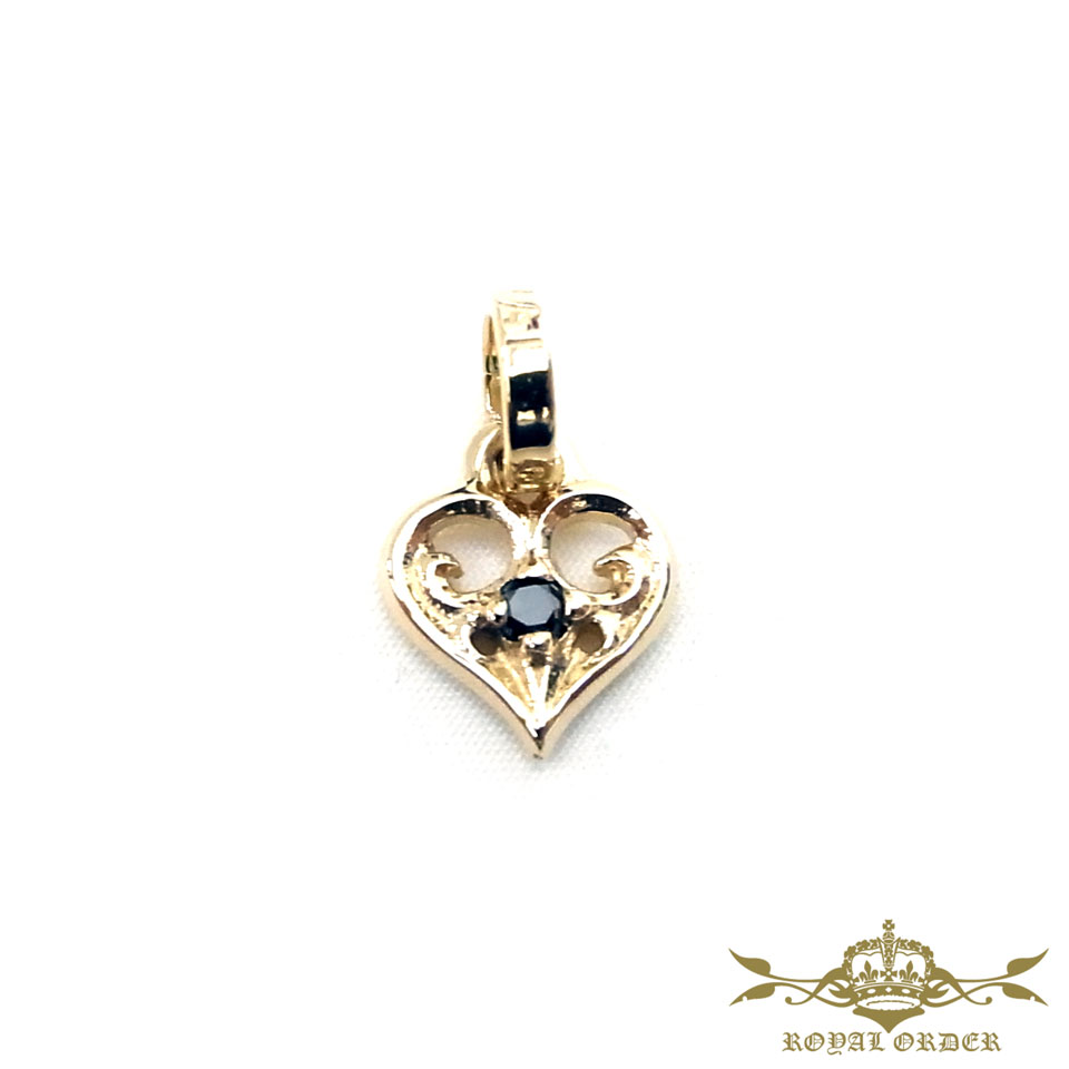 【ROYAL ORDER】ロイヤルオーダー【送料無料】【】/SMALL ALLEGRA HEART w/DIAMOND 9Kゴールドスモールアレグラハートw/ダイヤモンド 【送料無料】【】特許の