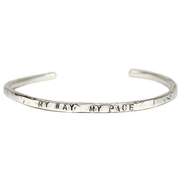 【VASSER】バッサーMy Way My Pace Silver Bangle(マイウェイマイペースシルバーバングル)/バングル/シルバーアクセサリー/シンプル/メンズ/レディース 正規取扱店 PLATINISM (プラチニズム)