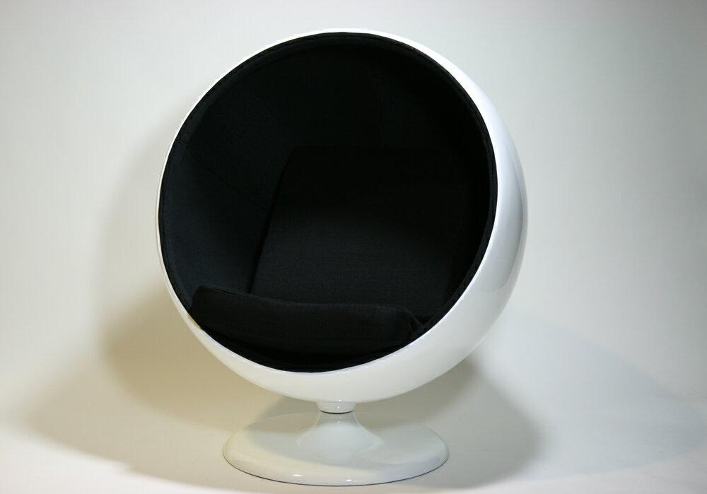 ■新品■デザイナーズ ボールチェア ミッドセンチュリー Black