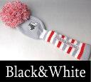 【2017春夏新作】ブラック&ホワイト ドライバーヘッドカバー【Black&White】【460cc対応】【レディース】【ゴルフ】【ブラック アンド ホワイト】【あす楽_翌日着荷可】【あす楽_土日祝日も営業】